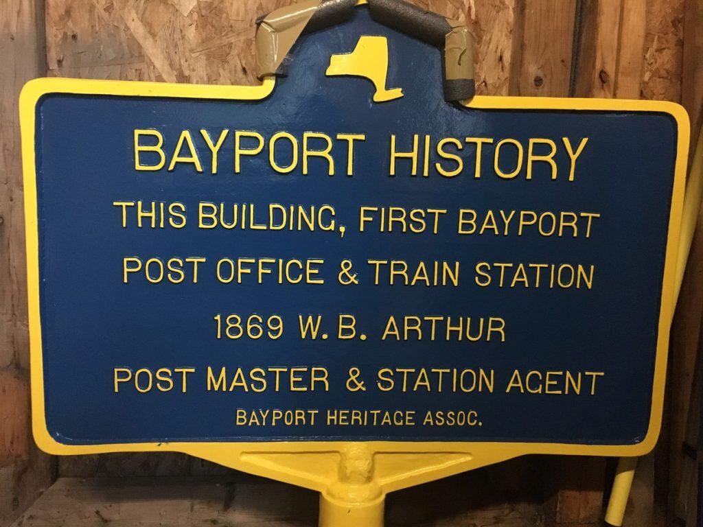 Bayport historical plaque